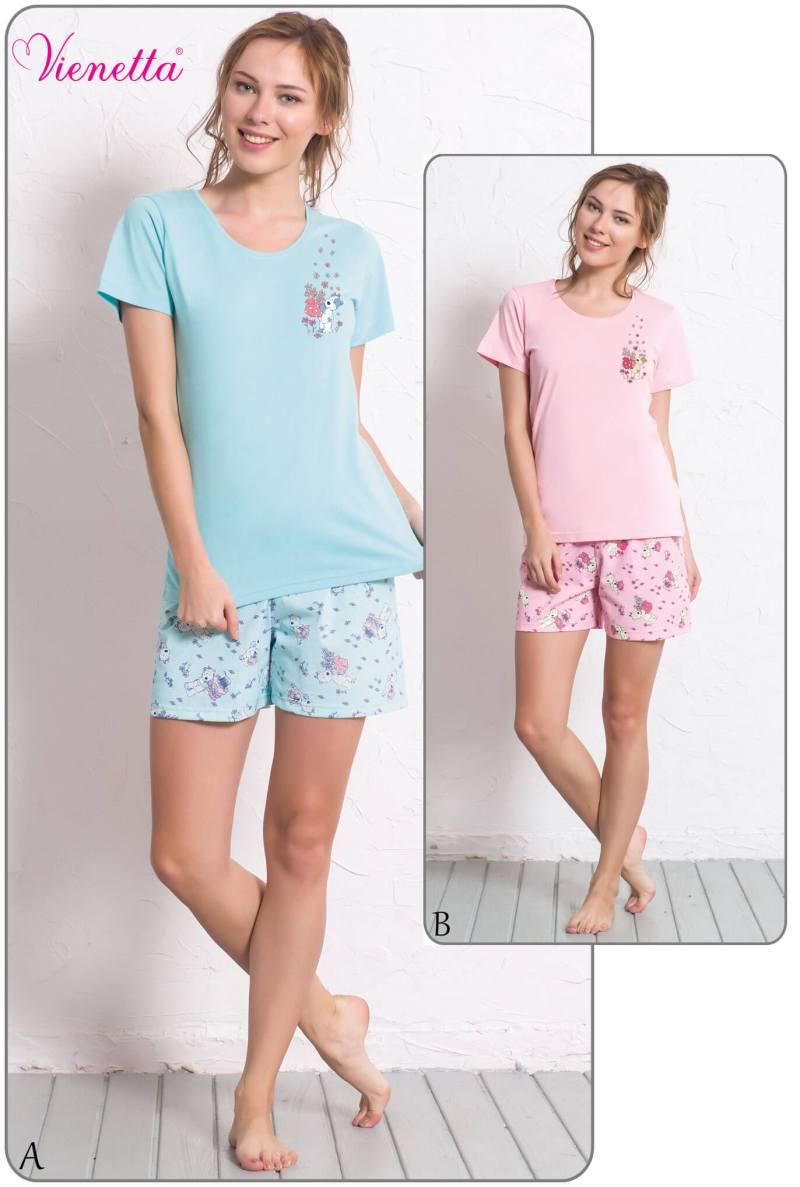 Пижама женская шорты 6080100323