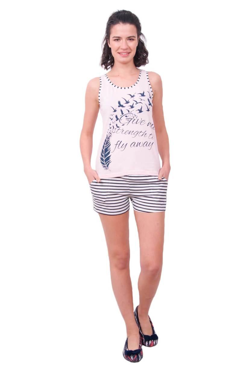 Пижама женская шорты Nicoletta 80652