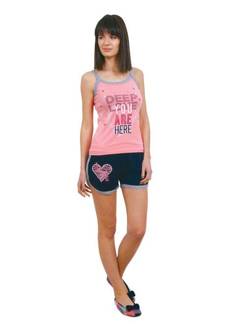 Пижама женская шорты Nicoletta 80671