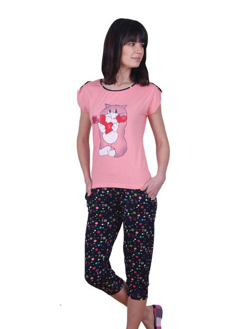 Пижама женская капри NICOLETTA 82364