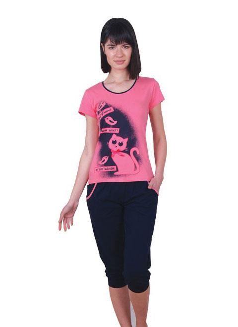 Пижама женская капри NICOLETTA 82372