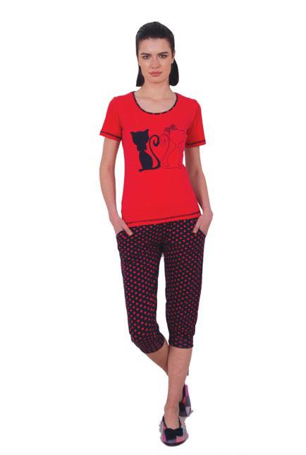 Пижама женская капри NICOLETTA 82376