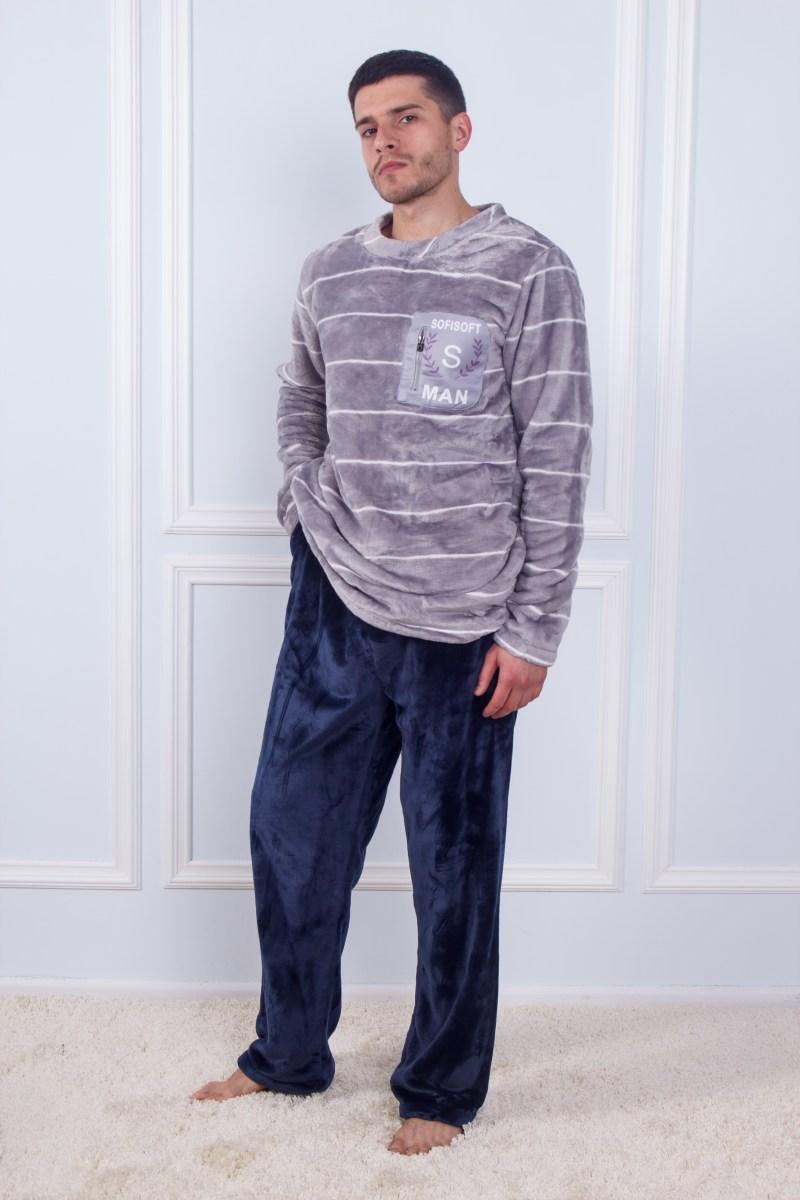 Пижама мужская махровая SofiSoft 10870