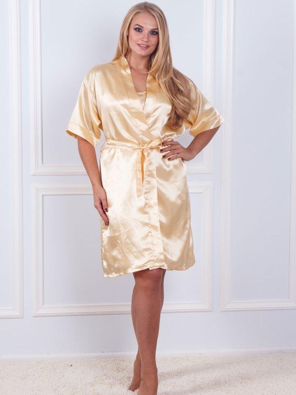 Халат ночная шёлк набор Sofi Soft 10876 gold