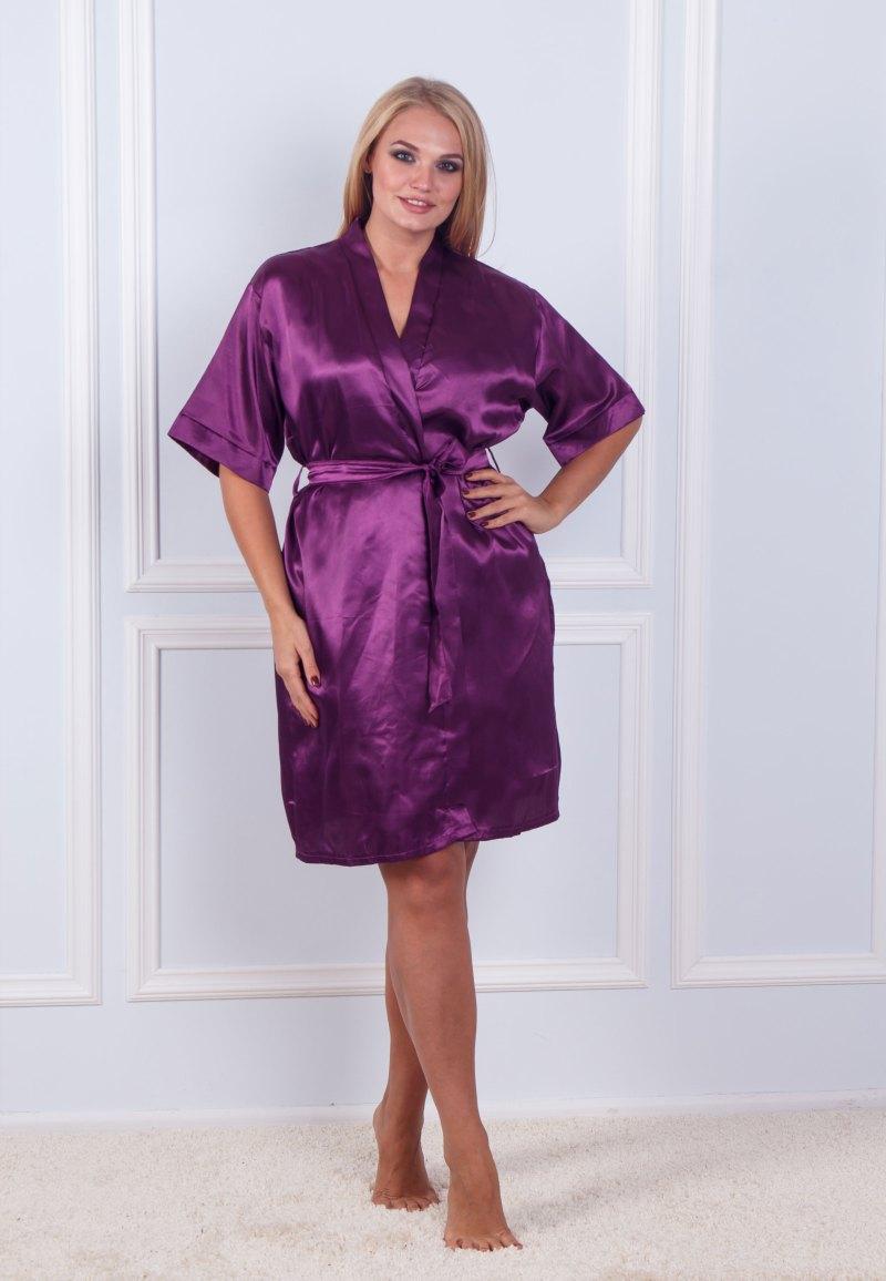 Халат ночная шёлк набор Sofi Soft 10876 lil