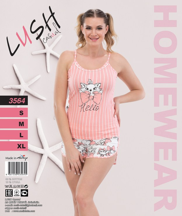 Пижама женская Шорты LUSH 3564