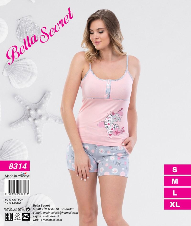 Пижама женская Шорты Metin 8314