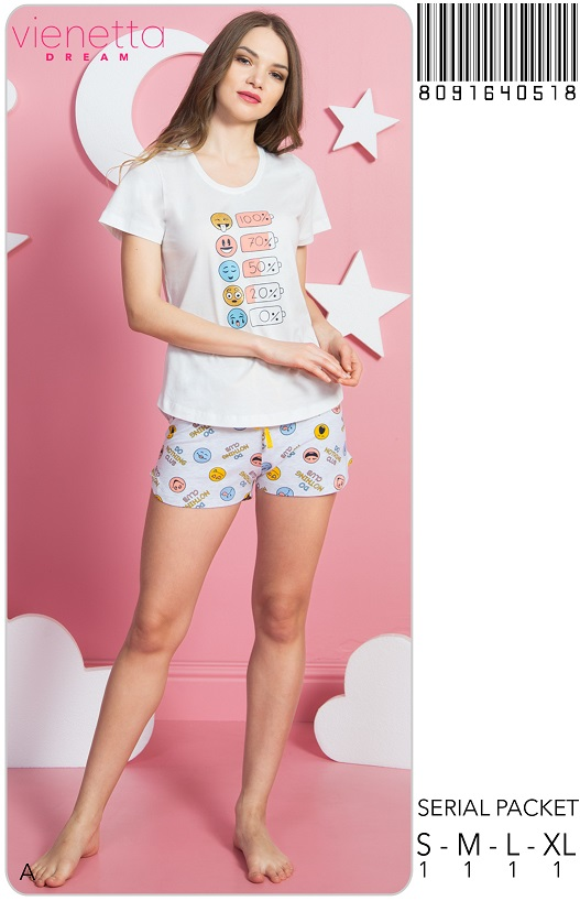 Пижама женская Шорты 8091640518