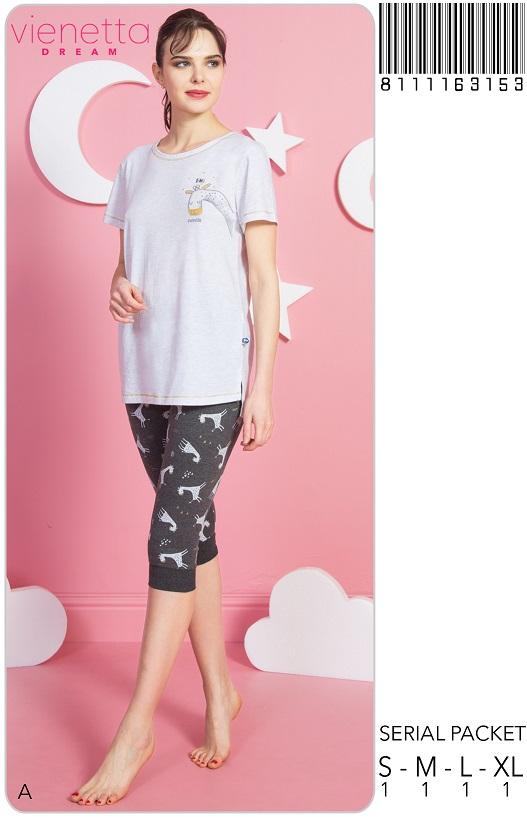 Пижама женская капри 8111163153