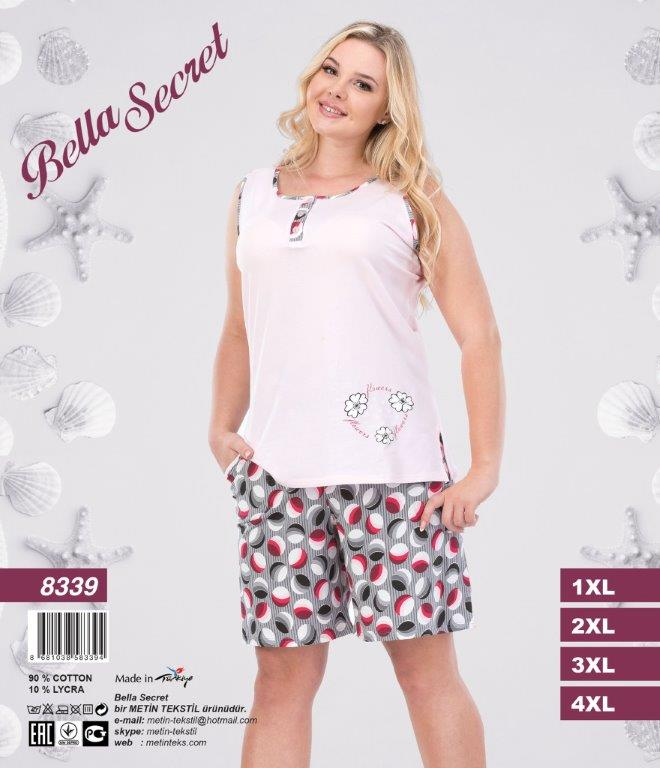 Пижама женская Шорты Metin 8339
