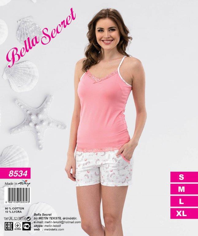 Пижама женская Шорты Metin 8534