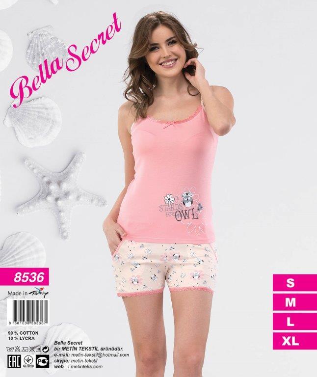 Пижама женская Шорты Metin 8536/19