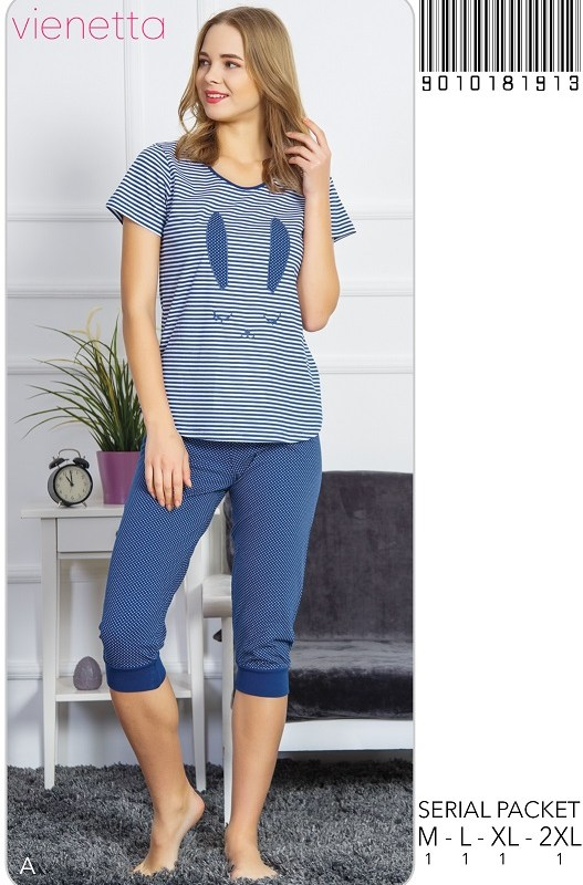 Пижама женская капри 9010181913