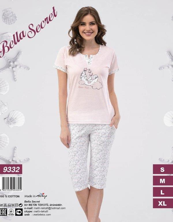 Пижама женская Капри Metin 9332