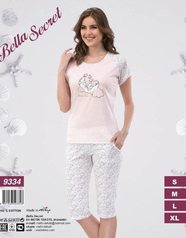 Пижама женская Капри Metin 9334