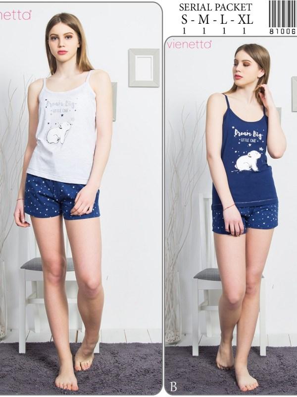Пижама женская шорты 8100612807