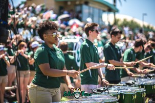 108 - USF Spring Game 2018 - USF Marching Band Thundering Herd Drumline by Dennis Akers - SoFloBulls.com (6016x4016)