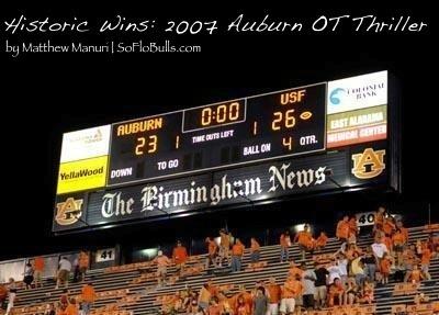 Historic Wins: 2007 OT Thriller at Auburn   by Matthew Manuri   SoFloBulls.com  
