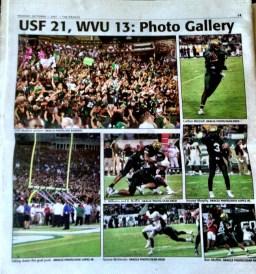 2007: USF vs. WVU   Final Score: USF 21, #5 WVU 13  