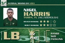 USF LB Nigel Harris - Class of 2013 (Hillsborough HS)
