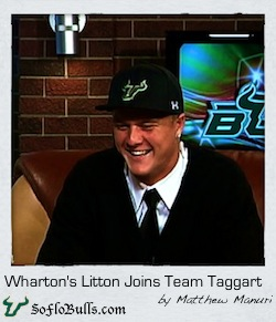 Wharton's Litton Joins Team Taggart  by Matthew Manuri  SoFloBulls.com 