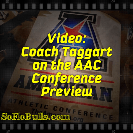 Video: Coach Taggart on the AAC Conference Preview | by Matthew Manuri | SoFloBulls​.com |