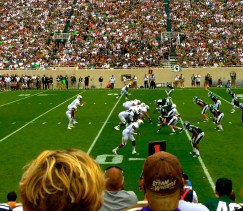 The Spartan Showdown | Game Shot on the 50-yard Line | SoFloBulls.com |