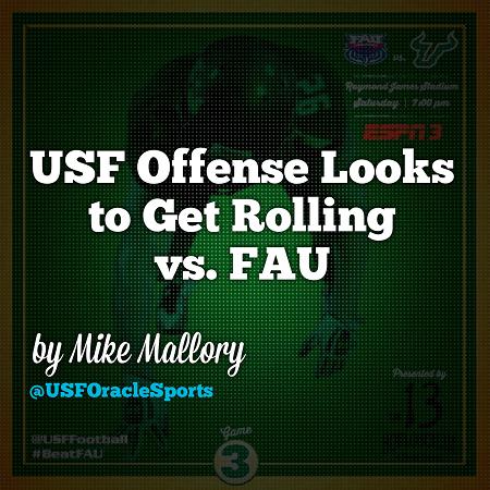 USF offense looks to get rolling vs FAU | SoFloBulls.com |