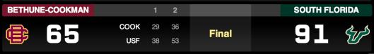 🏀 Bethune-Cookman vs South Florida 2013 | Final Score 91-65 | SoFloBulls.com