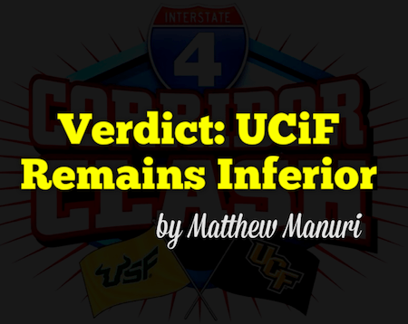 Verdict: UCiF Remains Inferior by Matthew Manuri | SoFloBulls.com |