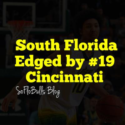 South Florida Edged by #19 Cincinnati | SoFloBulls Blog | 2014