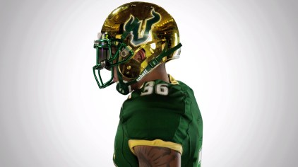 USF DB Nate Godwin in new Bulls Football Uniforms 2014 | SoFloBulls.com (910x510)