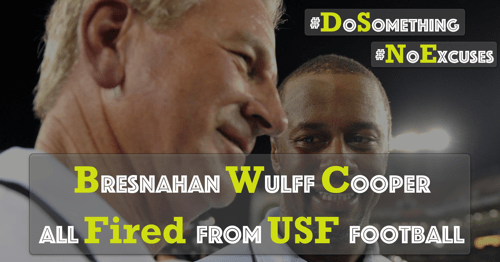 The Sunday Night Massacre- Bresnahan, Wulff, Cooper All Fired From USF Football By Collin Sherwin FI