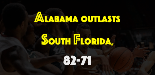 USF C Kaleel Cousins - Alabama Outlasts South Florida, 82-71 | SoFloBulls.com FI
