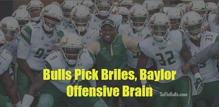 Bulls Pick Briles, Baylor Offensive Brain by Matthew Manuri SoFloBulls.com