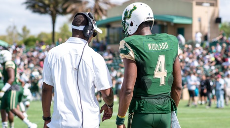Former USF QB White, Transfer Woulard Named To Top 30 Impact Transfers Asiantii Woulard FI (466x260)