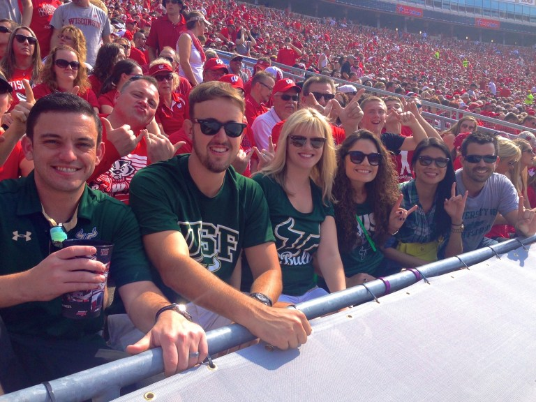 The USF Gang at USF vs Wisconsin 2014