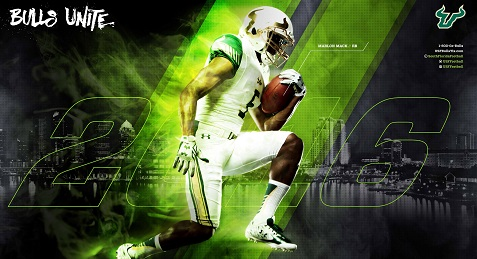 TDS-A Call To Arms, USF. Buy Season Tickets Today. Because It's Now or Never. Marlon Mack Poster (477x259)