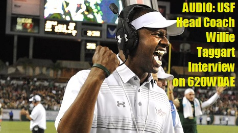 USF Head Coach Willie Taggart Interview on 620WDAE SoFloBulls.com (07.15.2016) (466x260)