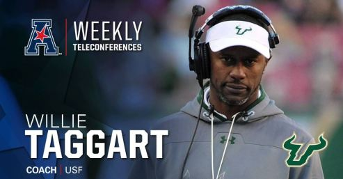 AAC Teleconference Week Four-USF Head Coach Willie Taggart (1277x659)