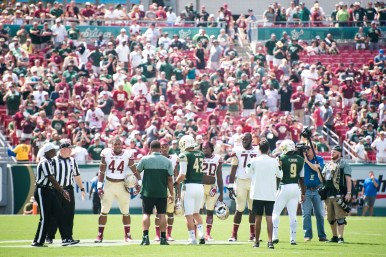 FSU vs USF 2016 51 - Honorary Captain B.J. Daniels Demarcus Walker Trey Marshall Auggie Sanchez Quinton Flowers by Dennis Akers (5882x3927)