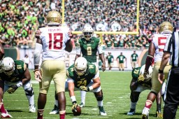 FSU vs USF 2016 60 - Quinton Flowers Cameron Ruff Dominique Threatt Jeremi Hall Ro'Derrick Hoskins Fredrick Jones by Dennis Akers (4512x3008)