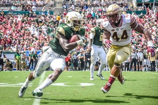 FSU vs USF 2016 76 - Marlon Mack with Demarcus Walker in hot pursuit by Dennis Akers (3472X2315)