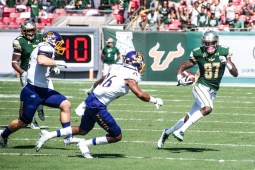 37 USF vs ECU 2016 - USF WR Rodney Adams cuts up field (3805x2540)