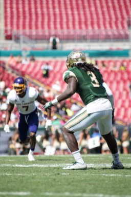 56 USF vs ECU 2016 - USF DB Deatrick Nichols guards ECU WR Zay Jones (3742x5606)