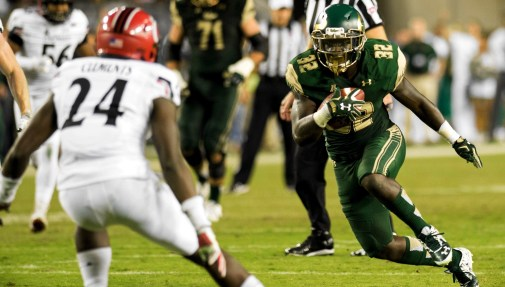 USF RB D'Ernest Johnson's Excellent Catch vs Cincinnati Highlight 2015