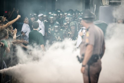 25 - Navy vs. USF 2016 - USF Exits Tunnel Coach Willie Taggart by Dennis Akers | SoFloBulls.com (5931x3959)