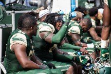 33 - USF vs. UCF 2016 - USF Players Get Away from the heat during #WarOnI4 by Dennis Akers | SoFloBulls.com (6016x4016)
