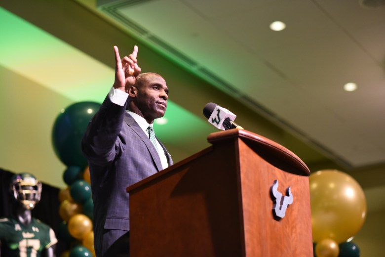 Charlie Strong Discusses Character, Leadership at USF Accounting Conference