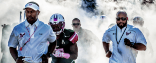 #BeatUConn 2016 UConn vs. USF Think Pink Willie Taggart Facebook Cover Image by Matthew Manuri | SoFloBulls.com (3568x1462)